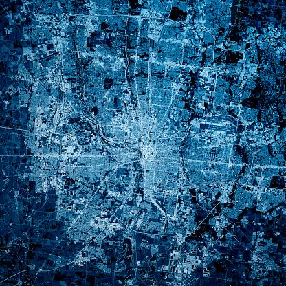 City Map「Columbus Ohio 3D Render Map Blue Top View Sept 2019」:スマホ壁紙(17)