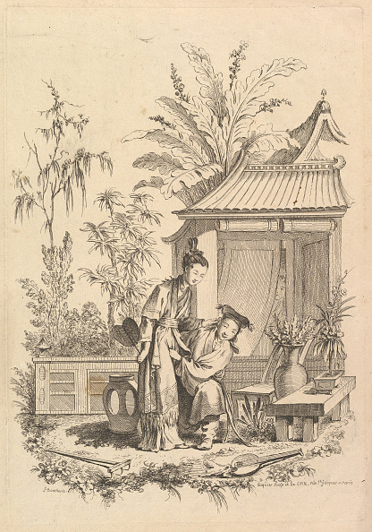 Tropical Tree「Chinoiserie Scene With Figures In A Landscape」:写真・画像(16)[壁紙.com]