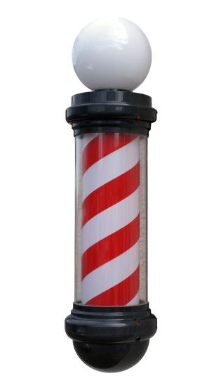 Pole「Barber's Pole Isolated on White」:スマホ壁紙(13)