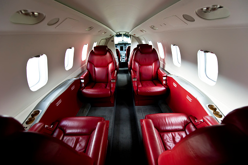 Commercial Airplane「The Luxurious Interior of a Private Plane」:スマホ壁紙(0)
