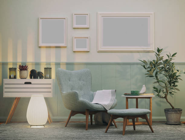 Cozy Armchair in the Living room:スマホ壁紙(壁紙.com)