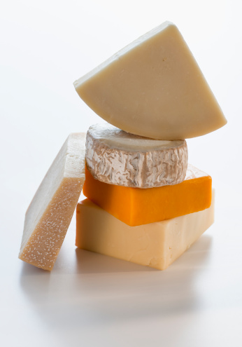 Cheddar Cheese「Pieces of different cheese」:スマホ壁紙(2)