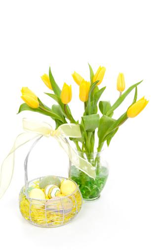 Easter Basket「Tulips and Easter Eggs」:スマホ壁紙(13)