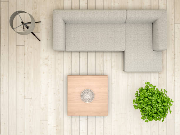 Livingroom overhead view:スマホ壁紙(壁紙.com)