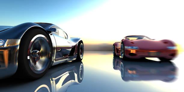 Image of two super cars racing:スマホ壁紙(壁紙.com)
