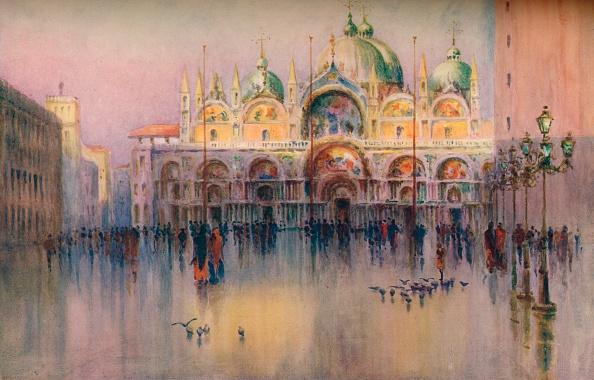 Travel Destinations「Evening Glow, St. Mark's, Venice. (1914). Artist: Helen Donald-Smith」:写真・画像(7)[壁紙.com]