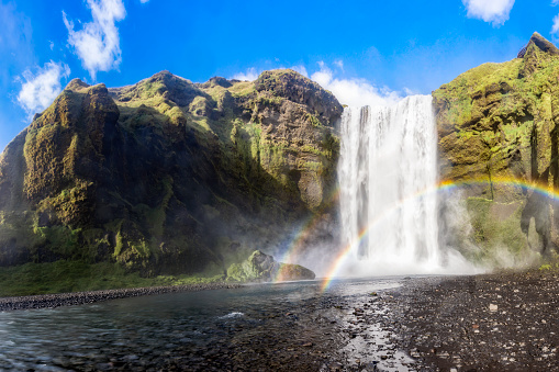 Eco Tourism「Skogafoss Waterfall in south of Iceland」:スマホ壁紙(8)