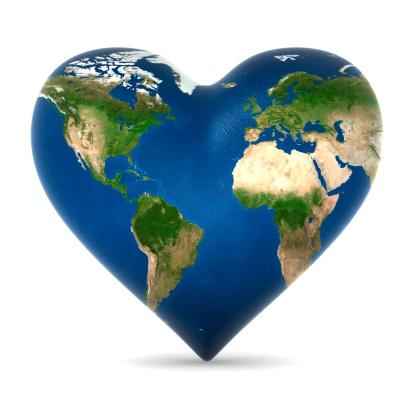 Planet Earth「Earth Heart」:スマホ壁紙(5)