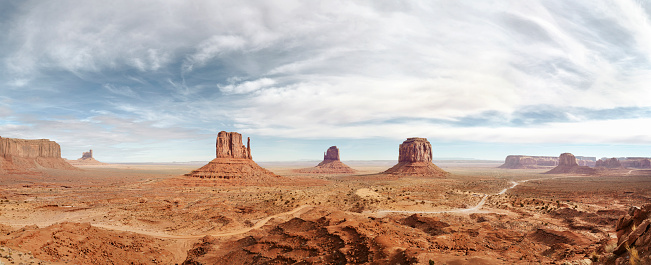 Indigenous American Culture「Monument Valley Panoramic, Arizona, USA」:スマホ壁紙(1)
