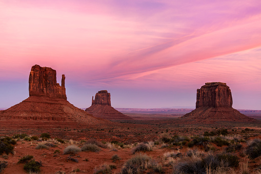 Indian Culture「Monument Valley at sunset」:スマホ壁紙(4)