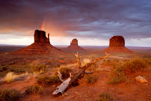 Indigenous Culture「Monument Valley Navajo Tribal Park Rainbow and Storm Clouds」:スマホ壁紙(19)