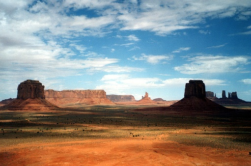 Plateau「Monument Valley landscape view, Arizona-Utah, USA」:スマホ壁紙(5)
