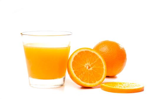 ジュース「オレンジジュースのガラス」:スマホ壁紙(16)