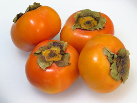 柿「Fresh Japanese Fuyu Persimmon Fruit.」:スマホ壁紙(18)