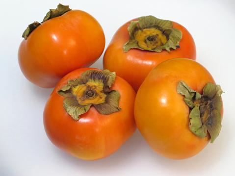 柿の木「Fresh Japanese Fuyu Persimmon Fruit.」:スマホ壁紙(19)