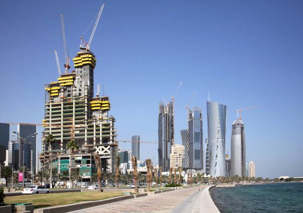 Construction along Corniche North, Doha, Qatar:ニュース(壁紙.com)