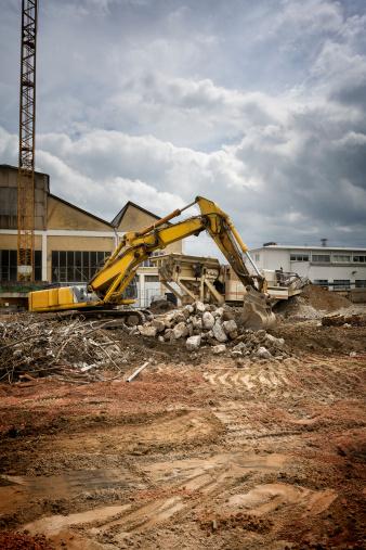 掘る「建設現場、excavator」:スマホ壁紙(2)
