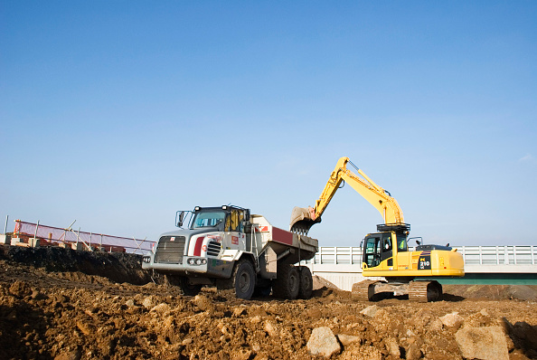 Crane - Construction Machinery「Construction machinery at work」:写真・画像(5)[壁紙.com]