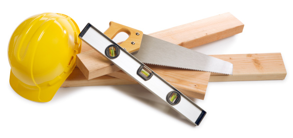 Carpentry「Construction Equipment on White」:スマホ壁紙(3)