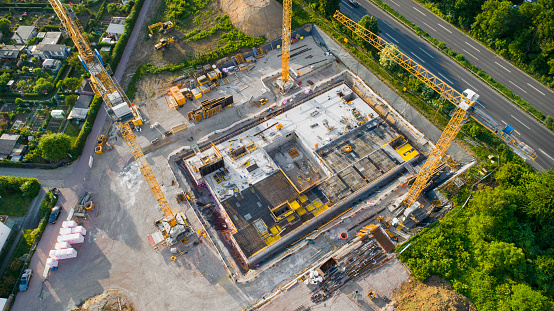 Industry「Construction site and equipment - aerial view」:スマホ壁紙(18)