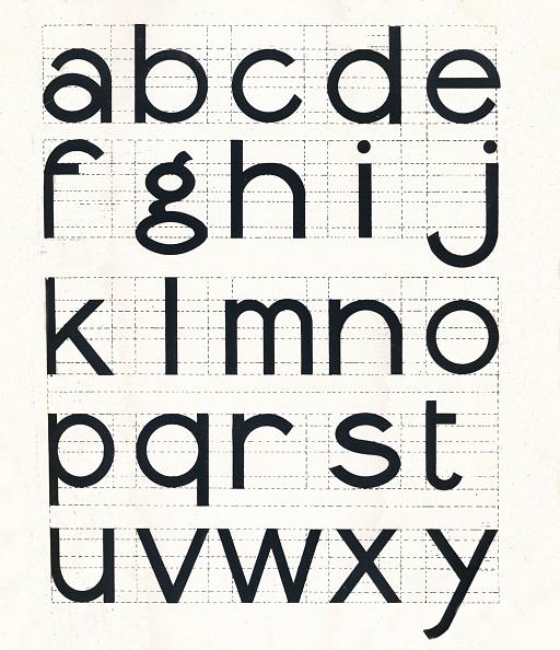 Typescript「Construction Of Lower-Case Letters, 1917」:写真・画像(5)[壁紙.com]