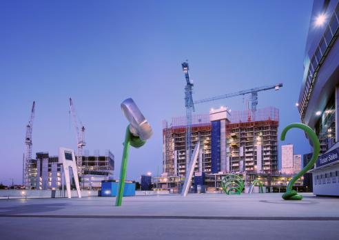 Melbourne Docklands「Construction sites at the Docklands, Melbourne」:スマホ壁紙(12)