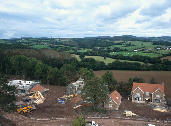 Brick Wall「Construction of new detached houses with conversion of stable block to house nearby. Wales.」:写真・画像(5)[壁紙.com]
