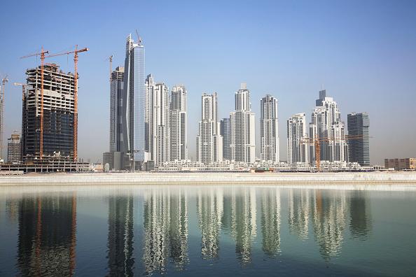 Incomplete「Construction at Dubai Business District, UAE」:写真・画像(1)[壁紙.com]