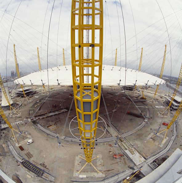 Support「Construction of Millennium Dome roof, Greenwich, London, UK」:写真・画像(9)[壁紙.com]