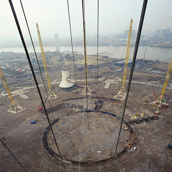 Support「Construction of Millennium Dome roof, Greenwich, London, UK」:写真・画像(12)[壁紙.com]