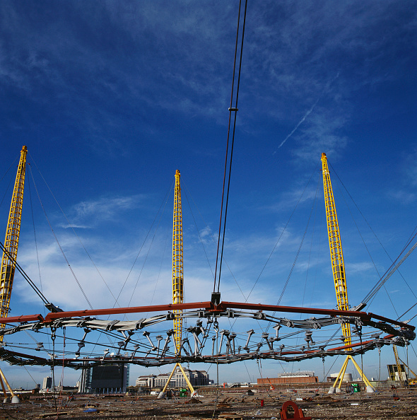 Support「Construction of Millennium Dome roof, Greenwich, London, UK」:写真・画像(13)[壁紙.com]