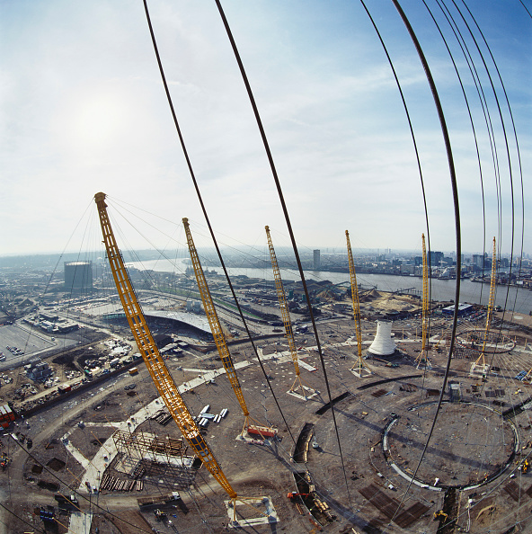 Support「Construction of Millennium Dome roof, Greenwich, London, UK」:写真・画像(7)[壁紙.com]
