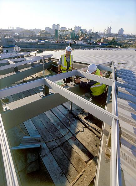2002「Construction of North Greenwich transport interchange, alongside the Millennium Dome London, United Kingdom Dome designed by Richard Rogers Partnership」:写真・画像(16)[壁紙.com]