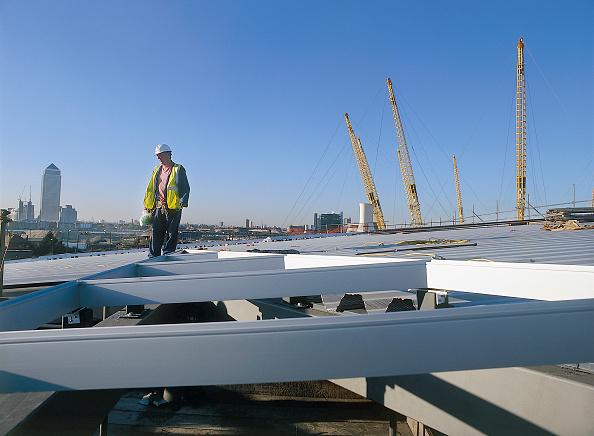 2002「Construction of North Greenwich transport interchange, alongside the Millennium Dome London, United Kingdom Dome designed by Richard Rogers Partnership」:写真・画像(15)[壁紙.com]