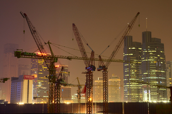 Construction Site「Construction site at night, Beijing, China.」:写真・画像(3)[壁紙.com]