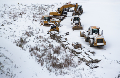 Snowdrift「Construction site in winter」:スマホ壁紙(1)