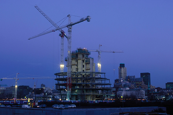 Construction Equipment「Construction of City Hall. Greater London Authority, GLA Building by Tower Bridge, South Bank, Southwark, London, United Kingdom. Architects Norman Foster and Partners. Engineers Arup.」:写真・画像(13)[壁紙.com]