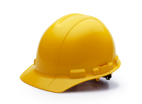 Side View「Construction Helmet on White」:スマホ壁紙(6)