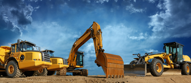 Panoramic「Construction Machines Ready to Work」:スマホ壁紙(1)