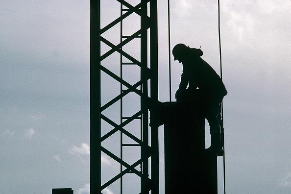 Balance「Construction of Canary Wharf Estate commercial development. London Docklands, UK.」:写真・画像(12)[壁紙.com]