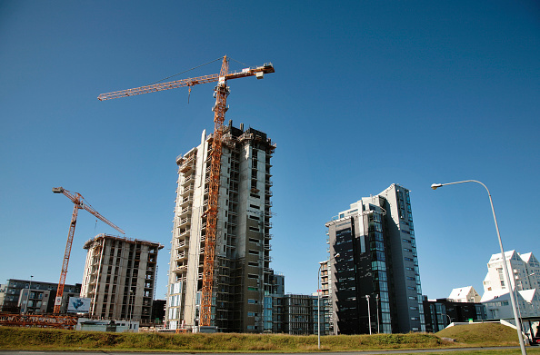 Copy Space「Construction of waterfront apartments, Reykjavik, Iceland 2008」:写真・画像(7)[壁紙.com]