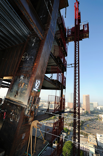 Copy Space「Construction of LA Live in Downtown Los Angeles, California, USA」:写真・画像(2)[壁紙.com]