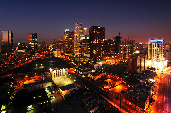 Night「Construction of LA Live in Downtown Los Angeles, California, USA」:写真・画像(16)[壁紙.com]