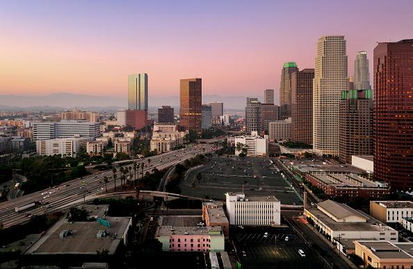 Dawn「Construction of LA Live in Downtown Los Angeles, California, USA」:写真・画像(17)[壁紙.com]