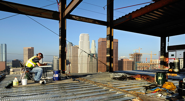 No People「Construction of LA Live in Downtown Los Angeles, California, USA」:写真・画像(9)[壁紙.com]