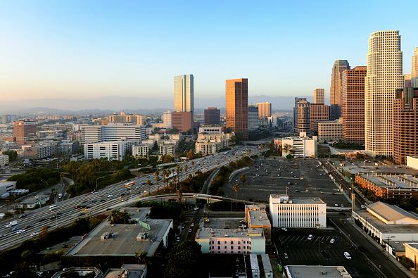 Copy Space「Construction of LA Live in Downtown Los Angeles, California, USA」:写真・画像(18)[壁紙.com]