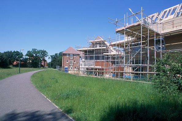 Brick Wall「Construction of new residential development. Great Notley garden village. Essex, United Kingdom.」:写真・画像(15)[壁紙.com]