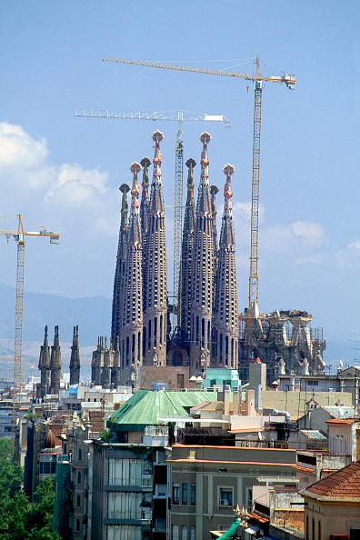 Ornate「Construction of the Sagrada Familia cathedral. Barcelona, Catalunya, Spain. Cathedral designed by Antoni Gaudi.」:写真・画像(5)[壁紙.com]