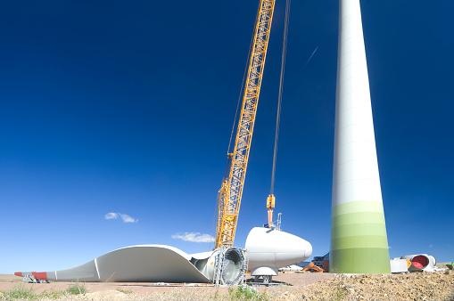 Erection「Construction of a wind turbine」:スマホ壁紙(11)