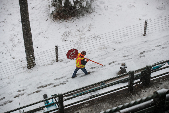 Blizzard「New York City Hit With Unusual April Snow」:写真・画像(19)[壁紙.com]